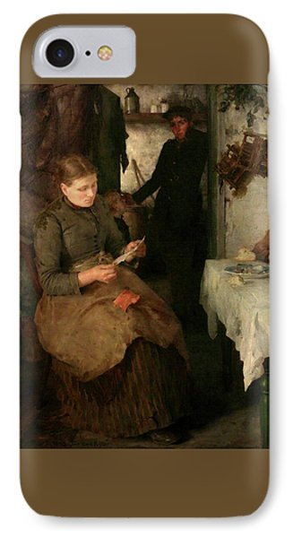 IPhone Case featuring the painting The Message by Henry Scott Tuke