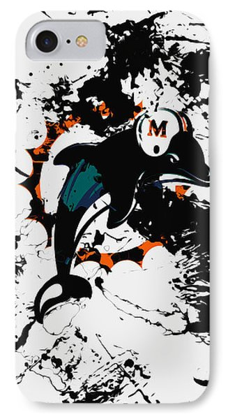 The Miami Dolphins 1a IPhone Case by Brian Reaves