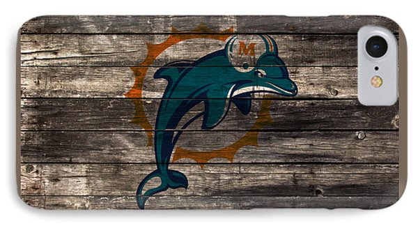 The Miami Dolphins W1 IPhone Case by Brian Reaves
