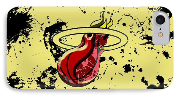 The Miami Heat 1b IPhone Case by Brian Reaves