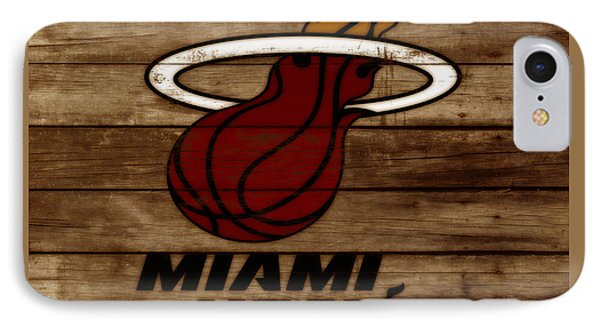 The Miami Heat 3b IPhone Case by Brian Reaves