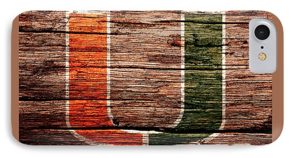 The Miami Hurricanes 1a IPhone Case by Brian Reaves