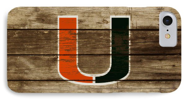 The Miami Hurricanes 3a       IPhone Case by Brian Reaves