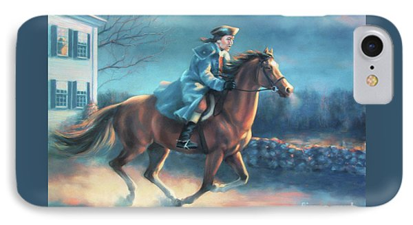 The Midnight Ride Of Paul Revere IPhone Case by Dale Tremblay
