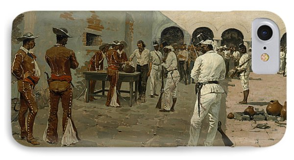 The Mier Expedition The Drawing Of The Black Bean  IPhone Case by Frederic Remington