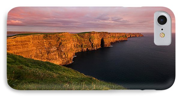 The Mighty Cliffs Of Moher In Ireland Phone Case by Pierre Leclerc Photography