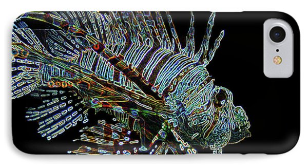 The Mighty Lion Fish IPhone Case by Carol F Austin