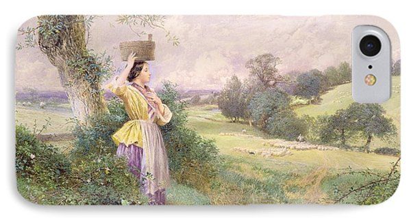 The Milkmaid IPhone Case by Myles Birket Foster