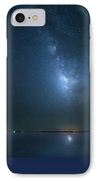 IPhone Case featuring the photograph The Milky Way And The Egret by Mark Andrew Thomas