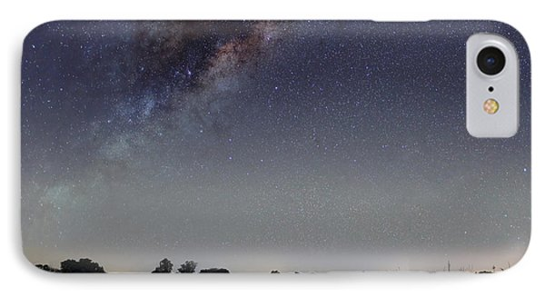 The Milky Way Galaxy Over A Rural Road Phone Case by Luis Argerich