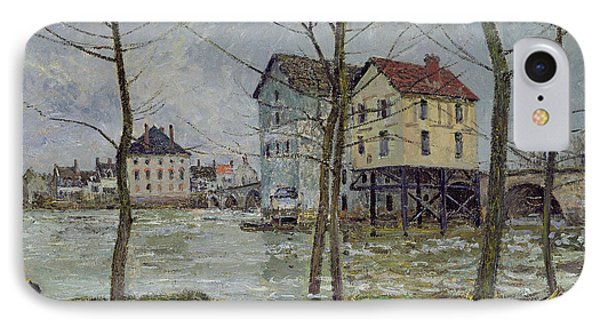 The Mills At Moret Sur Loing Phone Case by Alfred Sisley