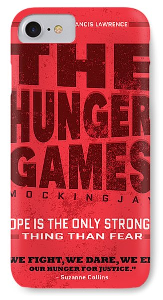 The Minimalist Movie Poster - The Hunger Games - Mockingjay Movie IPhone Case by Celestial Images