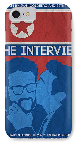 The Minimalist Movie Poster- The Interview IPhone Case by Celestial Images