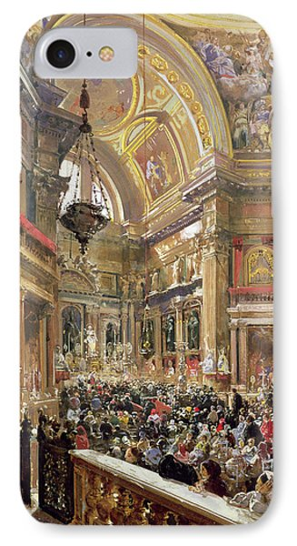 The Miracle Of The Liquefaction Of The Blood Of Saint Januarius Phone Case by Giacinto Gigante