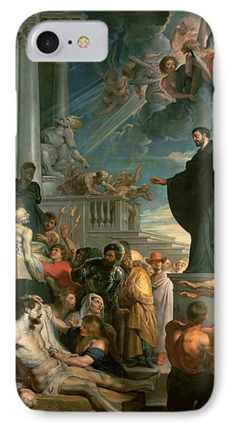 The Miracles Of St. Francis Xavier IPhone Case by Peter Paul Rubens