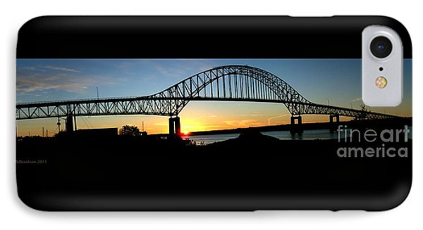 The Miramichi Bridge Sunset  IPhone Case by Patricia L Davidson