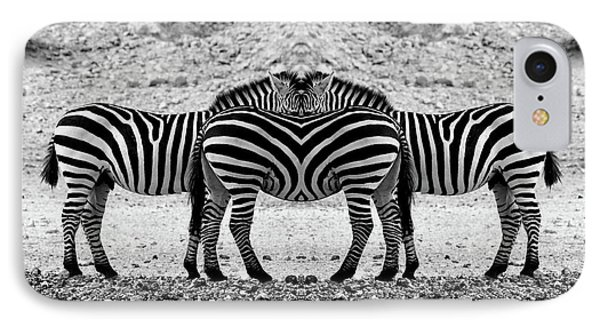 IPhone Case featuring the photograph The Mirrord Zebra by Arik Baltinester