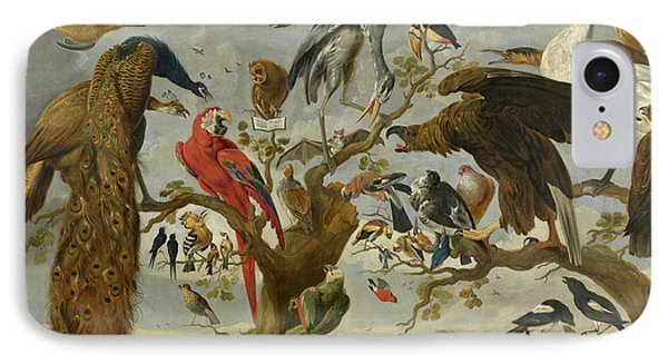 Meadowlark iPhone 7 Case - The Mockery Of The Owl by Jan van Kessel
