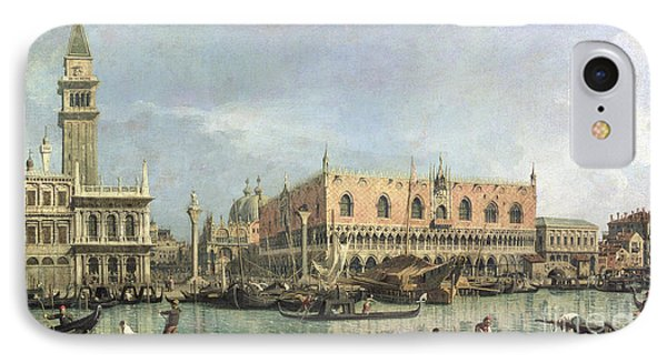The Molo And The Piazzetta San Marco IPhone Case by Canaletto