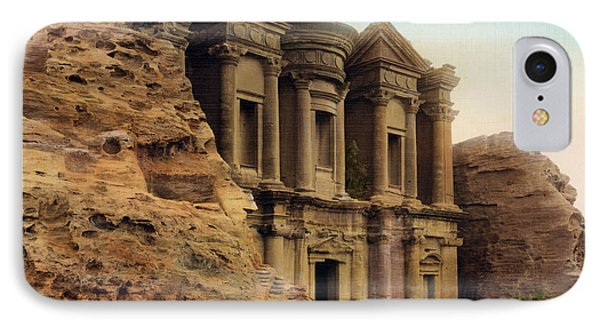 The Monastery Petra IPhone Case by Celestial Images