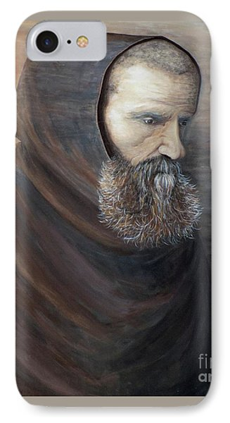 The Monk IPhone Case by Judy Kirouac