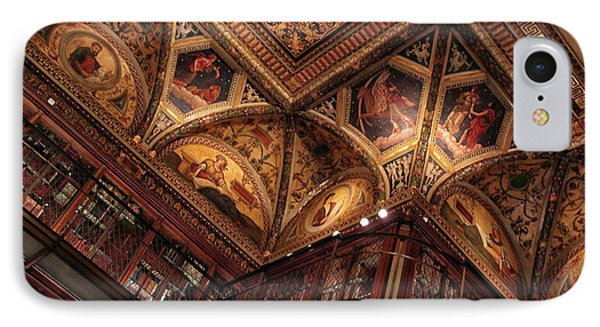 IPhone Case featuring the photograph The Morgan Library Ceiling by Jessica Jenney