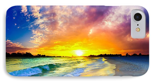 IPhone Case featuring the photograph The Most Beautiful Sunset In The World by Eszra Tanner