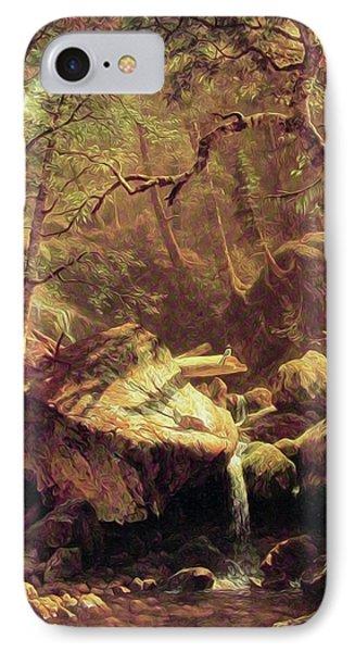 The Mountain Brook IPhone Case by Albert Bierstadt