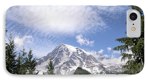 The Mountain  Mt Rainier  Washington IPhone Case by Michael Bessler