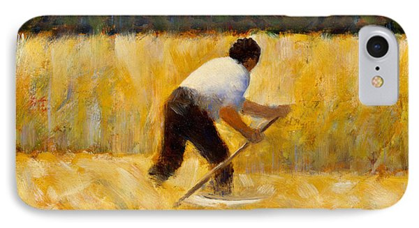 The Mower IPhone Case by Georges Pierre Seurat