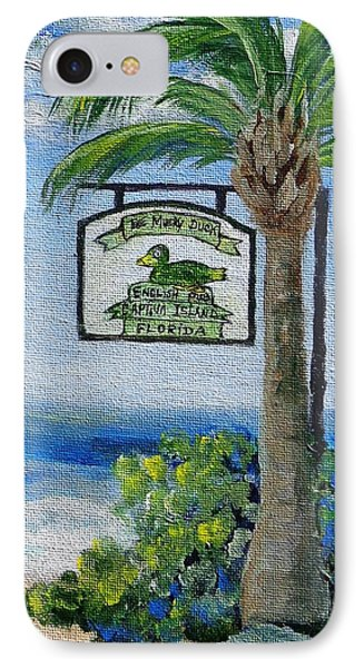 The Mucky Duck Captiva Island Florida Phone Case by Annie St Martin