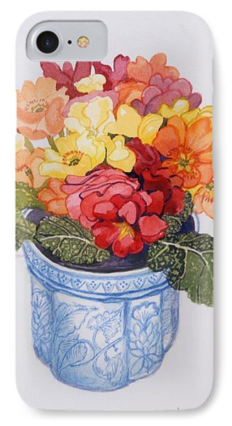 The Multicolored Primrose IPhone Case by Joan Thewsey