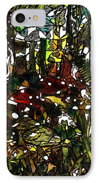 The Mushroom Village Phone Case by Garima Srivastava