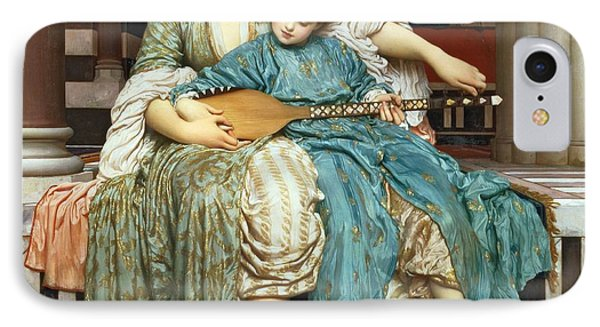 The Music Lesson IPhone Case by Frederic Leighton