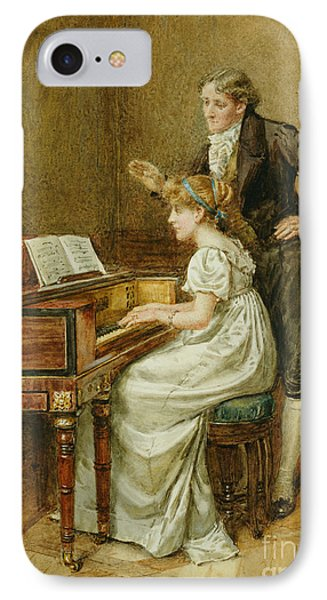 The Music Master IPhone Case by George Goodwin Kilburne