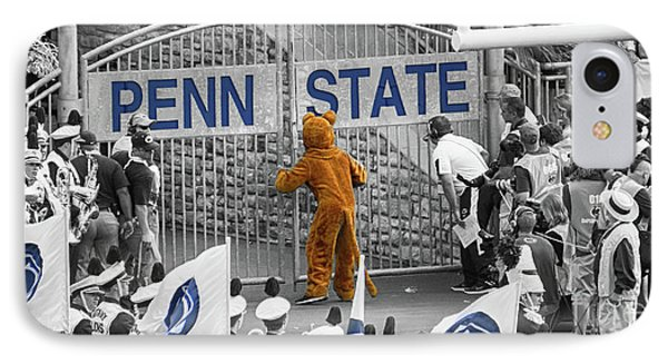 Penn State University iPhone 7 Case - The Name On The Gate by Tom Gari Gallery-Three-Photography