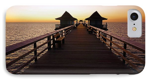 The Naples Pier At Twilight - 01 IPhone Case