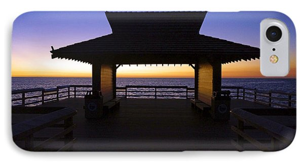The Naples Pier At Twilight - 02 IPhone Case