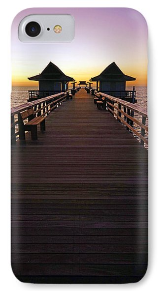 The Naples Pier At Twilight IPhone Case