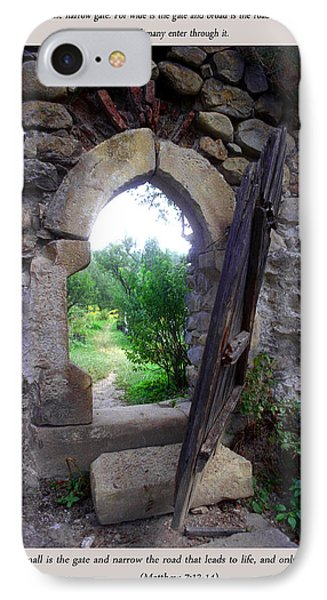 The Narrow Gate IPhone Case by Emanuel Tanjala