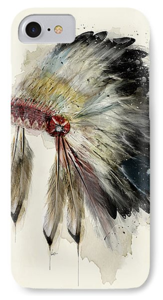 The Native Headdress IPhone Case by Bri B