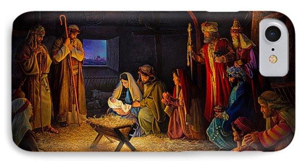 IPhone Case featuring the painting The Nativity by Greg Olsen