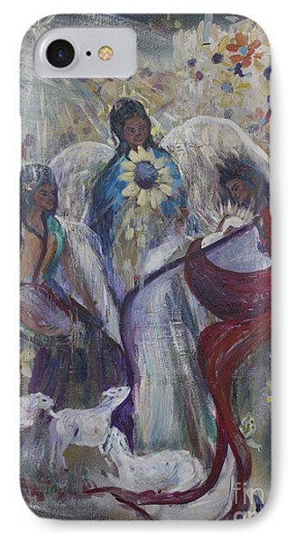 The Nativity Of The Angels IPhone Case by Avonelle Kelsey