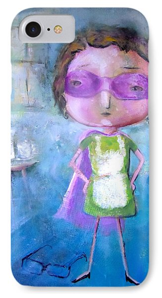 IPhone Case featuring the painting The Nerearsighted Super Mom by Eleatta Diver
