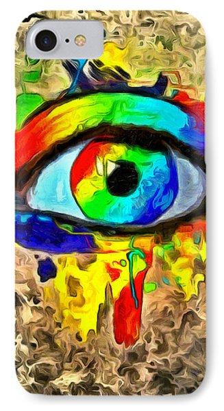 The New Eye Of Horus - Da IPhone Case by Leonardo Digenio