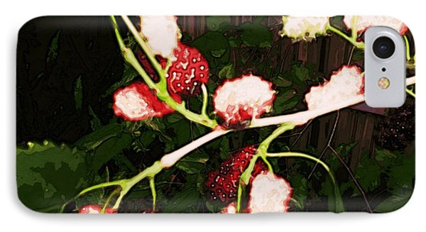 IPhone Case featuring the digital art The New Mulberries by Winsome Gunning