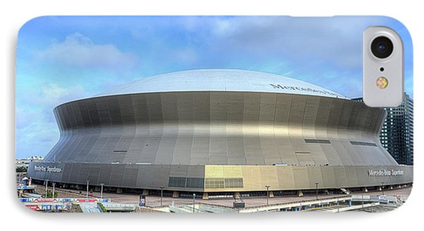 IPhone 7 Case featuring the photograph The New Orleans Superdome by JC Findley