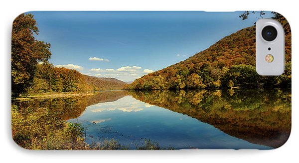 The New River In Autumn IPhone Case by L O C
