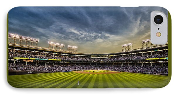 The New Wrigley Field With Pretty Sunset Sky IPhone Case by Sven Brogren