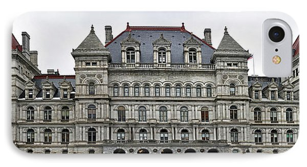 The New York State Capitol In Albany New York IPhone Case by Brendan Reals